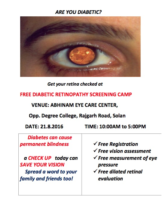 Free Diabetic Retinopathy Screening Camp
